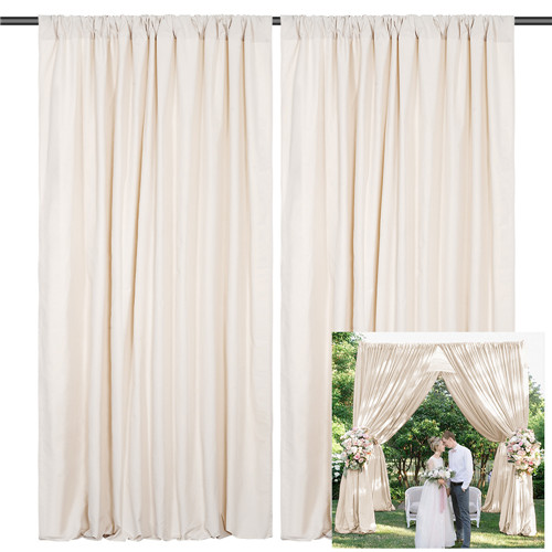 Wedding Backdrop Arch Decoration Polyester Decorative Background for Outdoor Ceremony Youtobe Party Stage Drapes 10ftx10ft
