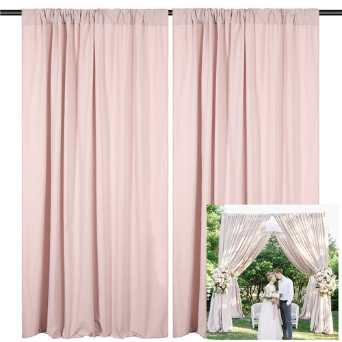Polyester Backdrop 2 Panels 5ftx8ft Wedding Party Photography Background for Christmas Stage Photo Booth Decoration