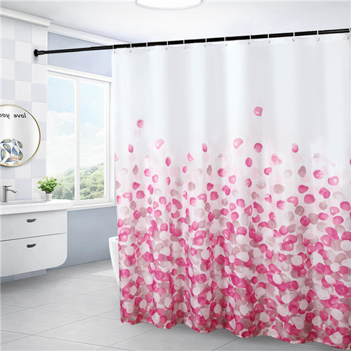 72x72 inches Shower Curtain Waterproof Polyester Bath Curtains Fabric Bathroom Decorations Set with Hook Bath Curtain