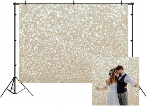 7x5ft Photography Backdrop Gold Spots Shinning Background Weeding Baby Shower