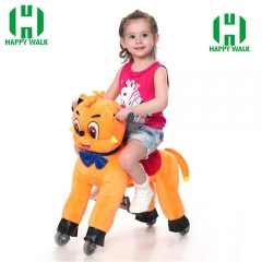Teddy Bear Mechanical Walking Animal plush ride on horse toy for playground