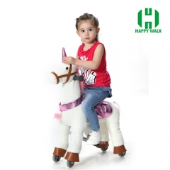 Unicorn Pony Walking Animal plush ride on horse toy for playground