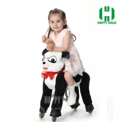 Panda Pony Walking Animal plush ride on horse toy for playground