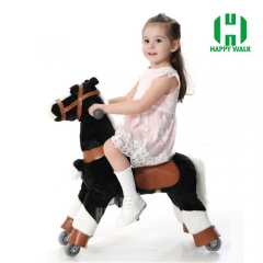 Walking Animal plush ride on horse toy for playground