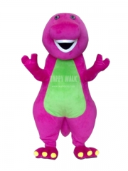 Barney Plush Movie Character Cartoon Mascot Costume for Adult