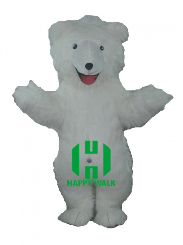 Polar Bear Animal Plush  Character Cartoon Mascot Costume for Adult