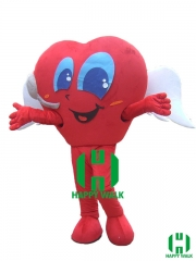 Red Heart Character cosplay Custom Adult Walking Fur Human Animal Party Plush Movie Character Cartoon Mascot Costume for Adult Sh