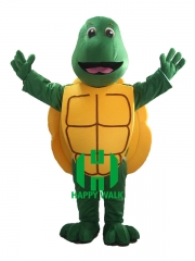 Turtle Character cosplay Custom Adult Walking Fur Human Animal Party Plush Movie Character Cartoon Mascot Costume for Adult Sh