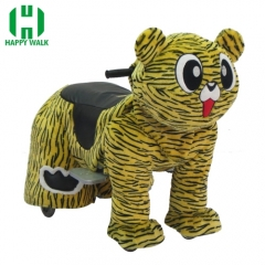 Tiger Wild Animal Electric Walking Animal Ride for Kids Plush Animal Ride On Toy for Playground