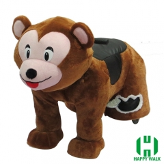 Little Monkey Electric Walking Animal Ride for Kids Plush Animal Ride On Toy for Playground