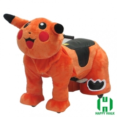 Pikachu Electric Walking Animal Ride for Kids Plush Animal Ride On Toy for Playground