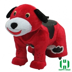 Dog Electric Walking Animal Ride for Kids Plush Animal Ride On Toy for Playground