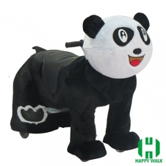 Panda Wild Animal Electric Walking Animal Ride for Kids Plush Animal Ride On Toy for Playground