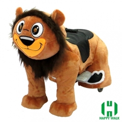 Lion the King Electric Walking Animal Ride for Kids Plush Animal Ride On Toy for Playground