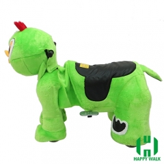 Little Chicken Electric Walking Animal Ride for Kids Plush Animal Ride On Toy for Playground