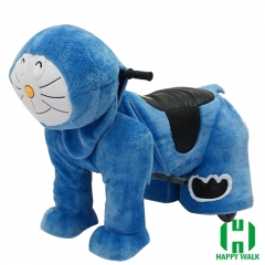 Doraemon Wild Animal Electric Walking Animal Ride for Kids Plush Animal Ride On Toy for Playground