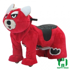 Wolf Dog Wild Animal Electric Walking Animal Ride for Kids Plush Animal Ride On Toy for Playground