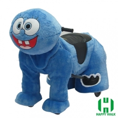 Sponge Bob Wild Animal Electric Walking Animal Ride for Kids Plush Animal Ride On Toy for Playground