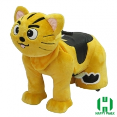 Star Cat Wild Animal Electric Walking Animal Ride for Kids Plush Animal Ride On Toy for Playground