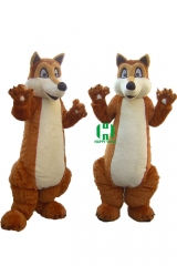 Wild Animal Character Custom Adult Walking Fur Human Animal Party Plush Movie Character Cartoon Mascot Costume for Adult