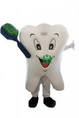 Tooth & Brush Character cosplay Custom Adult Walking Fur Human Animal Party Plush Movie Character Cartoon Mascot Costume for Adult Sh
