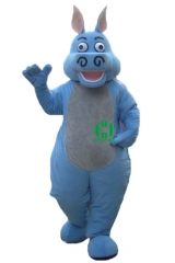 Hippo Wild Animal Character Custom Adult Walking Fur Human Animal Party Plush Movie Character Cartoon Mascot Costume for Adult