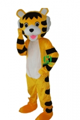 Tiger Wild Animal Character Custom Adult Walking Fur Human Animal Party Plush Movie Character Cartoon Mascot Costume for Adult