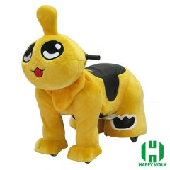Qizai Animal Electric Walking Animal Ride for Kids Plush Animal Ride On Toy for Playground
