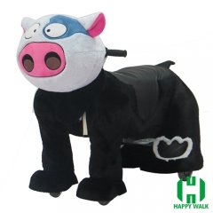 Dairy Cow Animal Electric Walking Animal Ride for Kids Plush Animal Ride On Toy for Playground