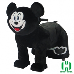 Mouse Animal Electric Walking Animal Ride for Kids Plush Animal Ride On Toy for Playground