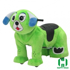 Dearest Dog Animal Electric Walking Animal Ride for Kids Plush Animal Ride On Toy for Playground