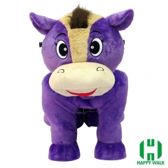 Horse Tiger Animal Electric Walking Animal Ride for Kids Plush Animal Ride On Toy for Playground