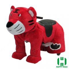 The King Tiger Animal Electric Walking Animal Ride for Kids Plush Animal Ride On Toy for Playground