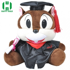 Custom Graduation Stuffed Plush Toy Squirrel