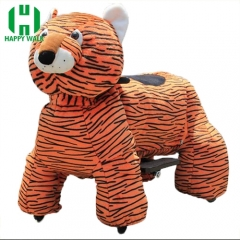 Tiger Electric Walking Animal Ride for Kids Plush Animal Ride On Toy for Playground