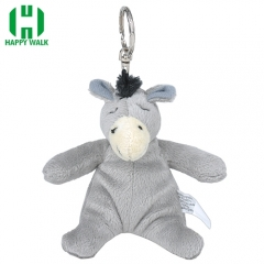 Custom Animal Donkey Plush Keychain