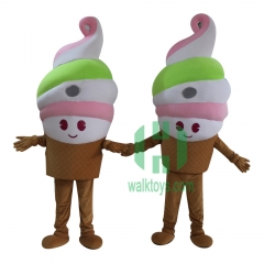 Ice Cream Character cosplay Custom Adult Walking Fur Human Animal Party Plush Movie Character Cartoon Mascot Costume for Adult Sh