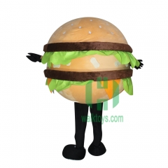 Hamburger Character cosplay Custom Adult Walking Fur Human Animal Party Plush Movie Character Cartoon Mascot Costume for Adult Sh