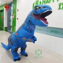 Blue Tyrannosaurus Rex Inflatable Costume for Adult