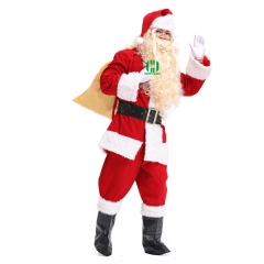 Christmas Santa Claus Costume for Adult