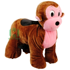 Monkey Electric Walking Animal Ride for Kids Plush Animal Ride On Toy for Playground