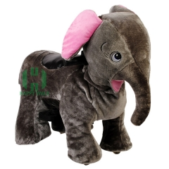 Elephant Electric Walking Animal Ride for Kids Plush Animal Ride On Toy for Playground