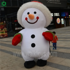 Snowman Christmas Inflatable Mascot Costume