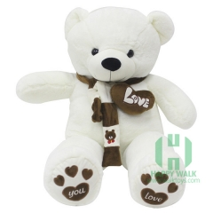 80-180cm The White Scarf Teddy Bear