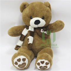 80-180cm The Brown Scarf Teddy Bear