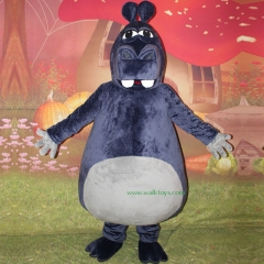 Hippo Character cosplay Custom Adult Walking Fur Human Animal Party Plush Movie Character Cartoon Mascot Costume for Adult Sh