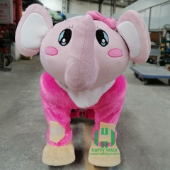 Elephant Wild Animal Electric Walking Animal Ride for Kids Plush Animal Ride On Toy for Playground