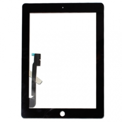 For iPad 3 Black Touch Screen Digitizer Outer Glass Panel