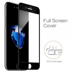 3D Full Curved Tempered Glass Screen Protector For iPhone 6 7 +