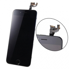 For iPhone 6S 4.7'' Black LCD Digitizer Touch Screen Display Assembly with Home Button Camera